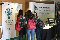 Special stand of Science Girls at Fira del Coneixement